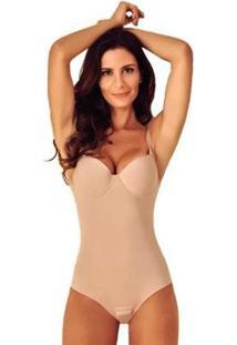 Cinta Body Bojo Modeladora Redutora Compressão Afina Cintura Feminina Liebe - Feminino-Bege