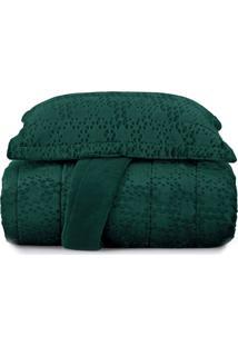 Jogo De Colcha Casal Blend Elegance Vogue Prisma - Verde Verde
