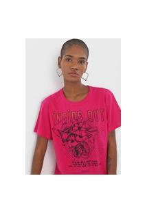 Camiseta Colcci Inside Out Rosa