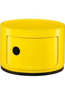 Prateleira Mart Multiuso 33X24X33Cm Abs 1 Andar Amarela