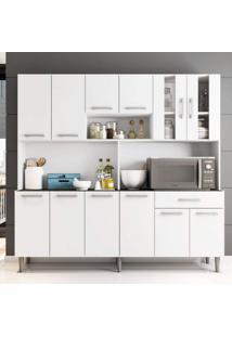 Armário De Cozinha 12 Portas 1 Gaveta Clara Poliman Móveis Branco