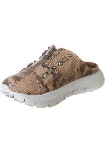 Tênis Mule Butique De Sapatos Piton Detalhe Zíper