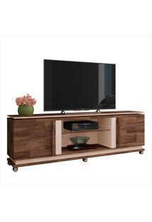 """Rack Para Tv De 70""""Com 2 Portas Level-Hb Móveis - Deck / Off White"""