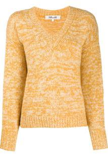 Diane Von Furstenberg Suéter Decote Em V - Amarelo