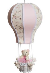 Lustre Balão Cintura Ursa Quarto Bebê Infantil Menina Potinho De Mel Rosa