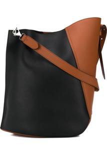 Lanvin Large Hook Shoulder Bag - Preto
