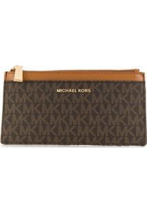 Michael Michael Kors Carteira Com Logos - Marrom