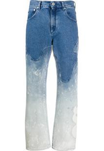 Off-White Calça Jeans Com Efeito Manchado - Azul
