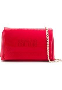 Versace Jeans Couture Bolsa Tiracolo Com Logo Bordado - Vermelho