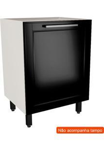 Balcão De Cozinha Black&White 1 Pt Preto