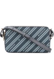 Givenchy Bolsa Transversal Estruturada Com Corrente - Azul