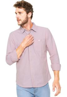 Camisa Hering Slim Bolsos Rosa