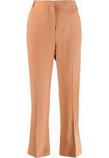 Versace Mid-Rise Cropped Trousers - Neutro