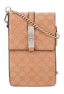 Bolsa Shoulder Bag Capodarte Monograma Alça Corrente Feminina - Feminino-Nude