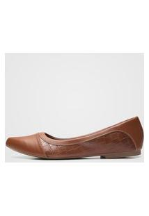 Sapatilha Dafiti Shoes Croco Caramelo