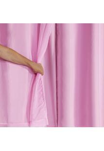 Cortina Blackout Pvc Com Tecido Voil 2,80 M X 1,80 M Rosa - Multicolorido - Dafiti
