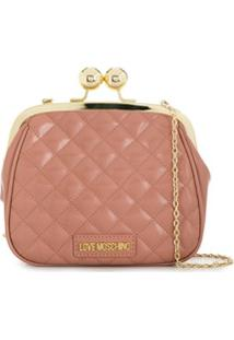 Love Moschino Coin Purse Clutch Bag - Rosa
