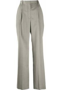 Alexander Mcqueen Calça Pantalona De Alfaiataria - Preto