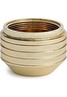 Tom Dixon Vaso Cog - Dourado