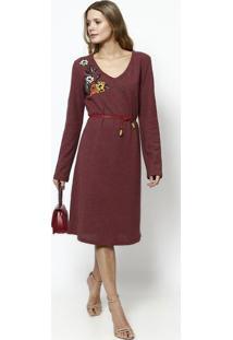 dadc8a4e3 Vestido Algodao Vinho feminino | Shoelover