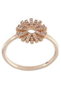 Astley Clarke Anel De Ouro 14K Com Diamantes - Metálico