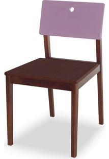Cadeira Flip Cor Cacau Com Encosto Lilas - 31131 - Sun House