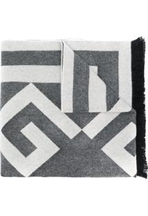 Givenchy Echarpe 4G Com Logo - Cinza