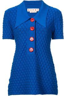 e9b6655208 Marni Camisa Polo De Tricô - Azul