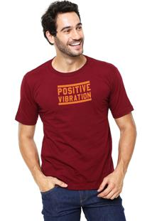 Camiseta Rgx Positive Vibrations Bordô
