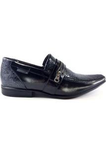 Sapato Social Rafarillo Couro Onix Masculino - Masculino-Preto