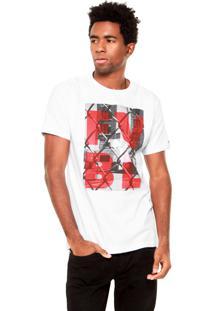 Camiseta Fiveblu Manga Curta Fvbl Branca