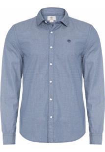 Camisa Masculina Índigo Chambray Pré - Azul