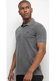 Camisa Polo Triton Estonada Masculina - Masculino-Chumbo