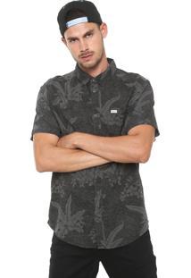 Camisa Rvca Reta Hawaiian Cinza