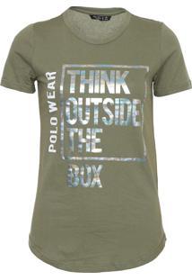 Camiseta Polo Wear Lettering Verde