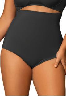 Calcinha Cinta Modeladora Alta Plus Size - Preto - Feminino - Dafiti