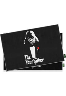 Jogo Americano Geek Side - The Your Father - 2 Peças Geek10 Preto