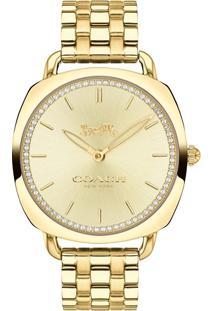 8d4f12c16d9 Vivara. Relógio Feminino Dourado Aço ...