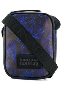 Versace Jeans Couture Barocco Print Messenger Bag - Preto
