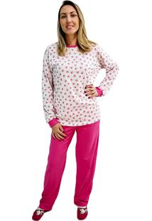 Pijama Phiphi Longo Bichos Rosa - Kanui