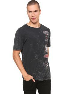 Camiseta John John Motor Sig Cinza