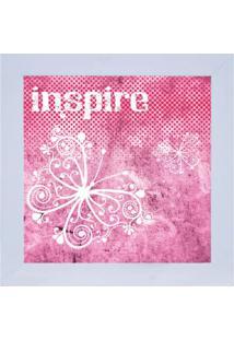 Quadro Decorativo Inspire - Rosa & Branco- 29X29Cm