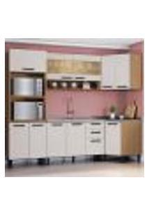 Cozinha Compacta New Jazz Iii 11 Pt 2 Gv Off White E Freijó