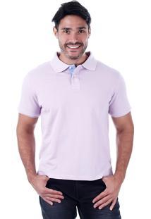Camisa Polo Masculina Code Blue - Lilas
