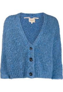 Bellerose Cropped Sleeves Cardigan - Azul