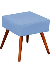 Puff Decorativo Lymdecor Lívia Corino Azul
