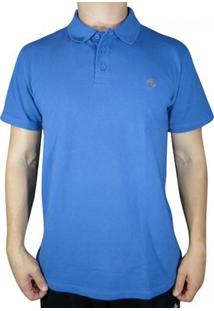 Camisa Polo Element Logo - Masculino-Azul