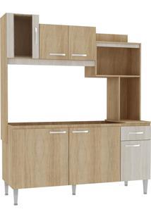 Cozinha Compacta Angel 6 Portas Carvalho E Blanche Cc90 Fellicci