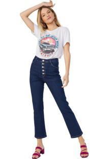Calça Jeans Slim Com Botões