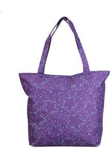 Bolsa Clio Shopping Bag Estrela Feminina - Feminino-Roxo
